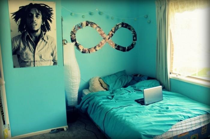 Jugendzimmer-Deko-mit-einem-Poster