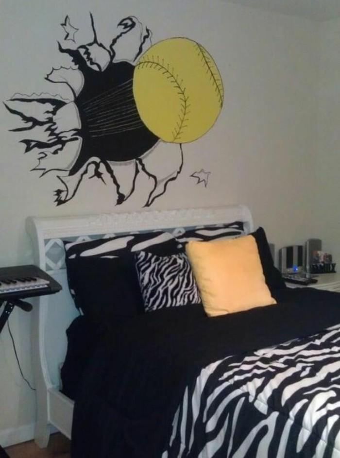 Jugendzimmer-Gestalten-mit-Bild-wie-einen-Tennisball