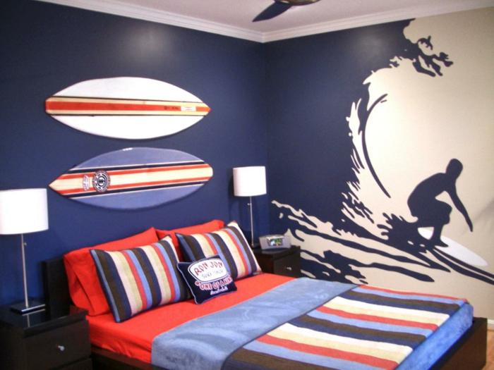 Jugendzimmer-Ideen-wie-beim-richtigen-Surfen