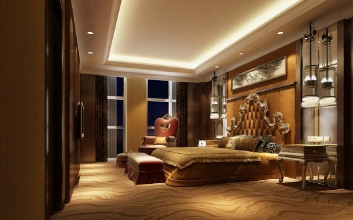 Led-Deckenleuchte-zu-einem-eleganten-Schlafzimmer