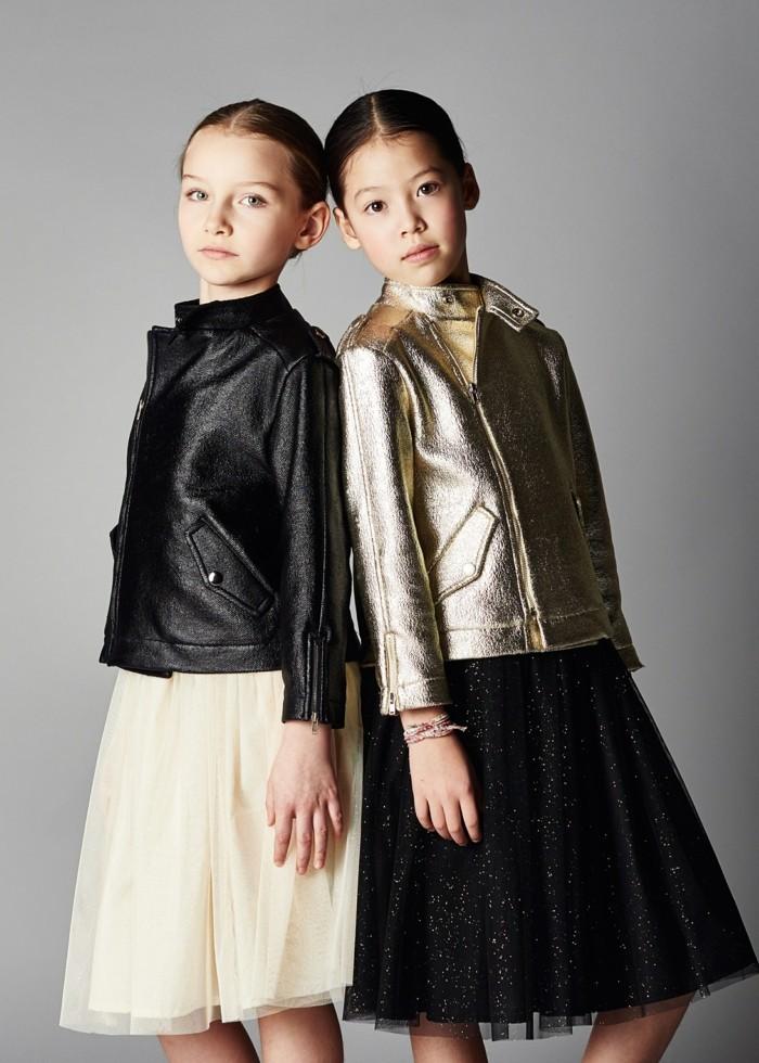 Lederjacken-für-Kinder-golden-und-schwarz-