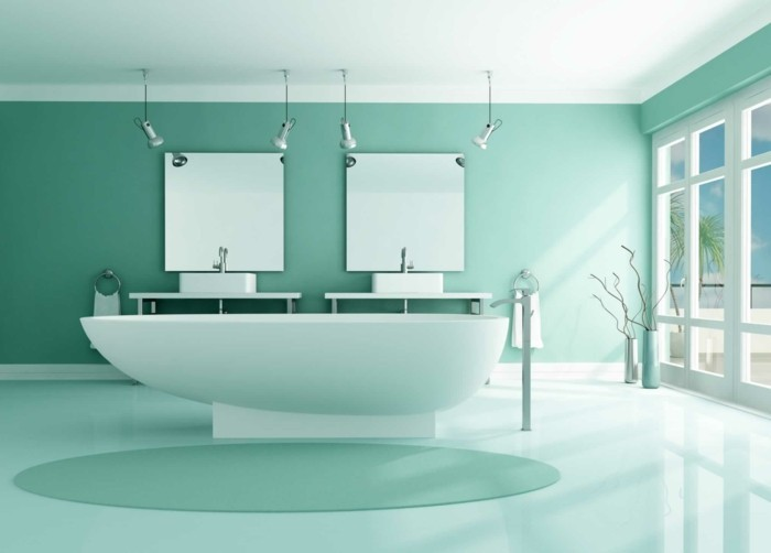 Luxus-Badezimmer-in-blauer-Farbe