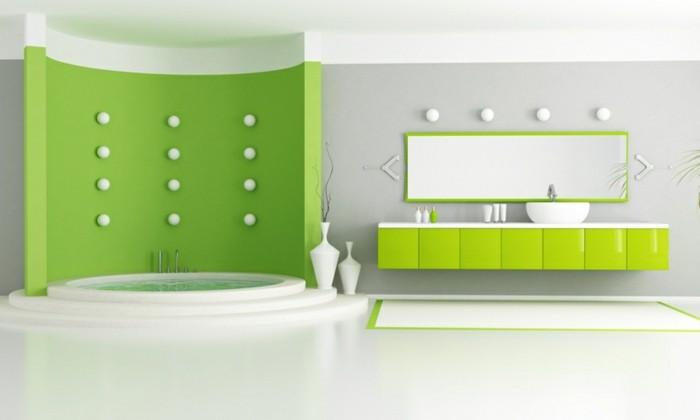 Luxus-Badezimmer-in-grüner-Farbe