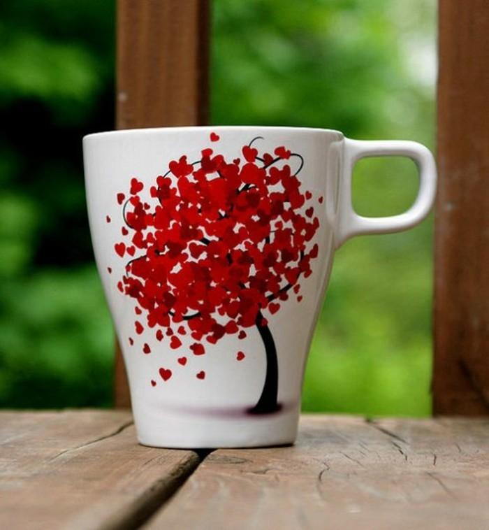 Porzellan-malen-mit-einem-Frühlingsbaum