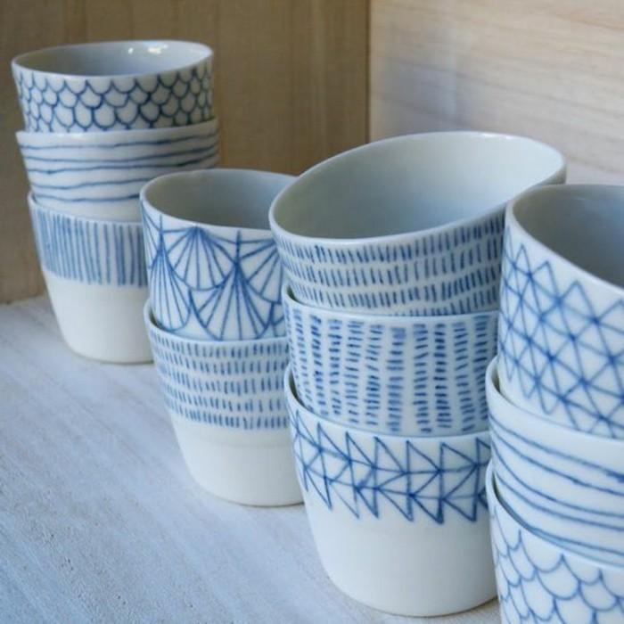 Porzellan-zum-bemalen-blaue-Linien