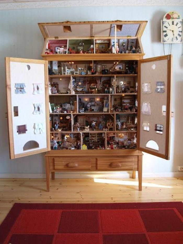 Puppenhäuser-aus-Holz-aus-Regal-gemacht