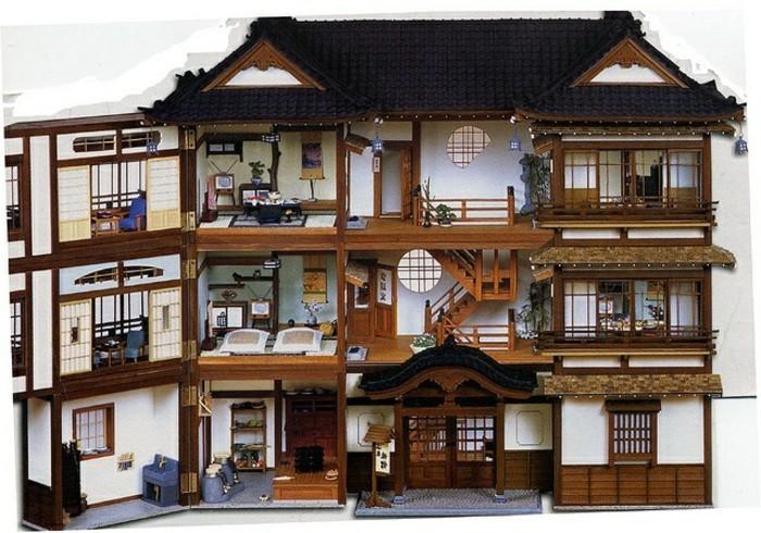 Puppenhäuser-aus-Holz-die-geöffnet-werden-kann