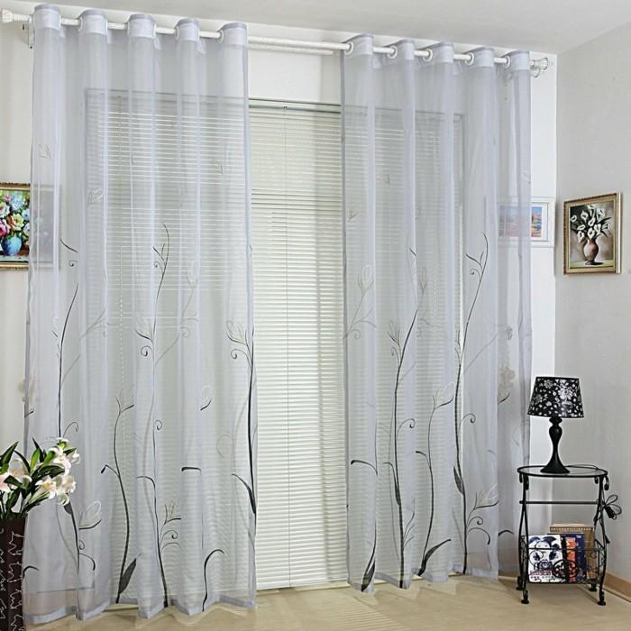 schlaufen gardinen wohnzimmer lilashouse. Black Bedroom Furniture Sets. Home Design Ideas