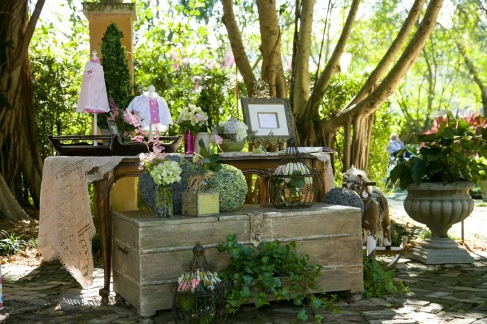 Shabby Chic Garten Gestaltung