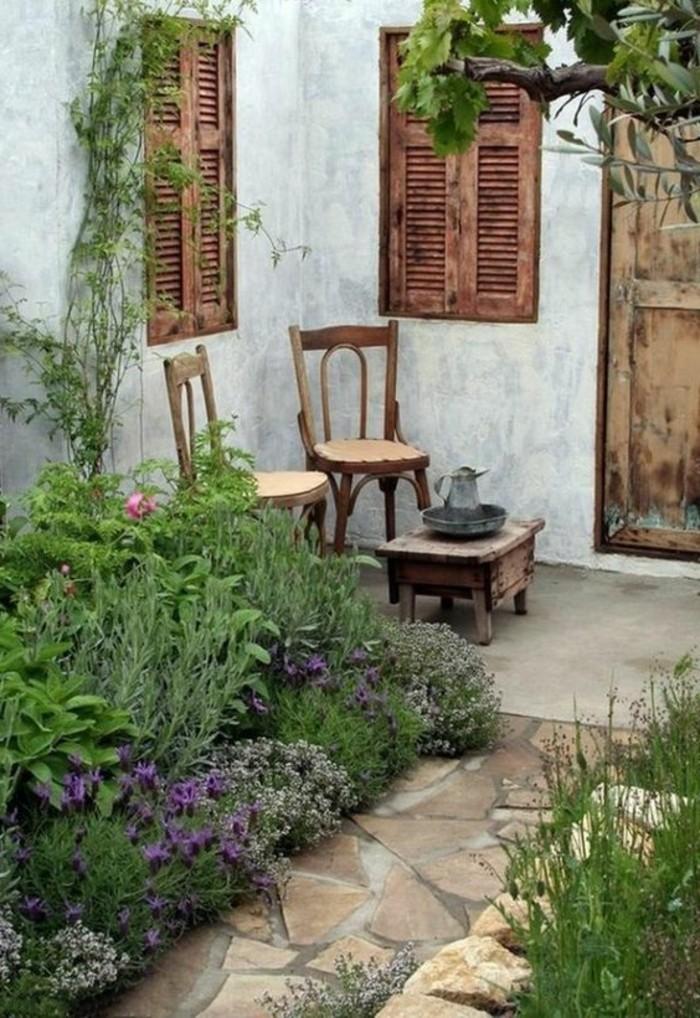 Shabby-Chic-Garten-gestaltung-für-ecke