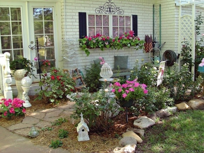 Shabby Chic Garten Gestaltung Und Dekoration