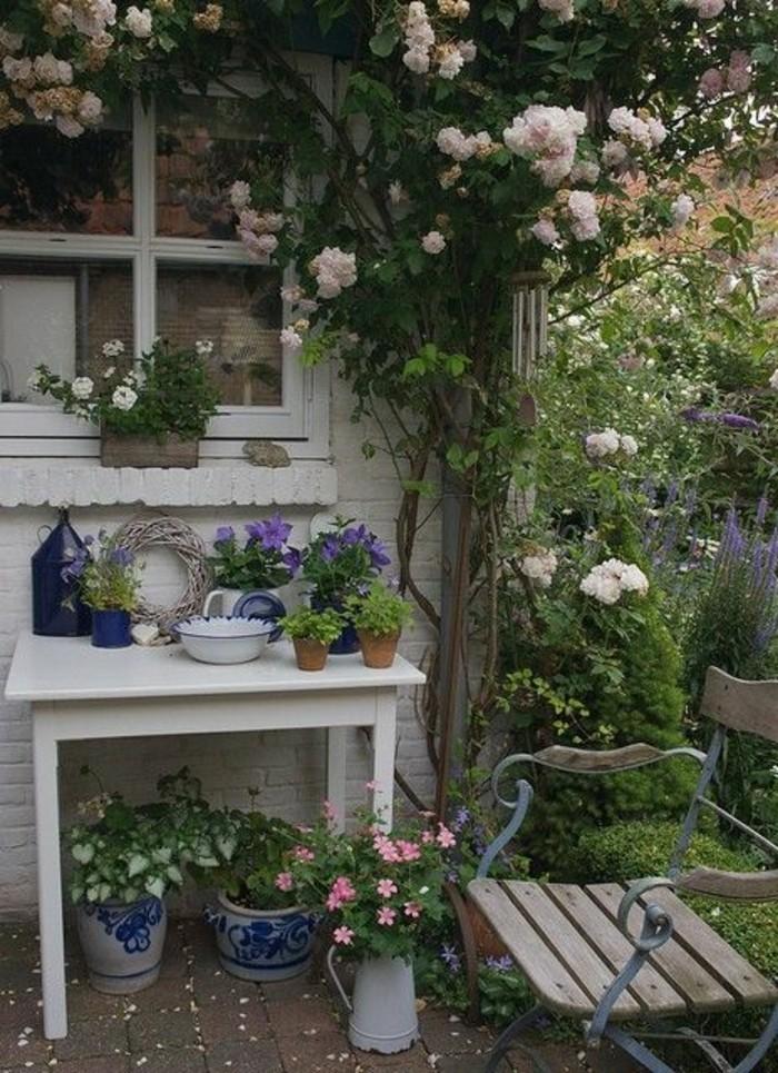 Shabby-Chic-Garten-kletterrosen-schöne-garten-gestaltung
