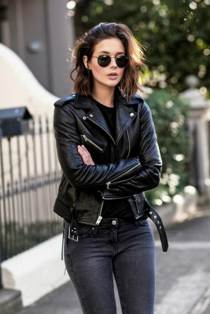 Sonnenbrille-rund-zu-Lederjacke-passend