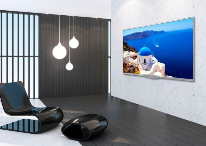 TV-Flachbildschirm-im-modernen-Wohnzimmer