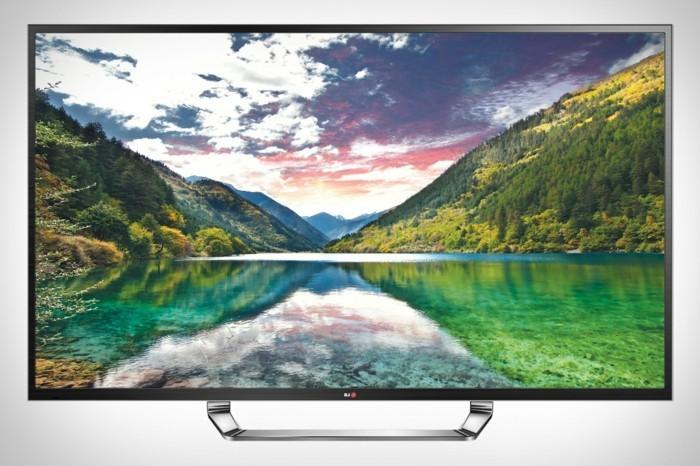 TV-Flachbildschirm-wie-vor-der-schönen-Natur