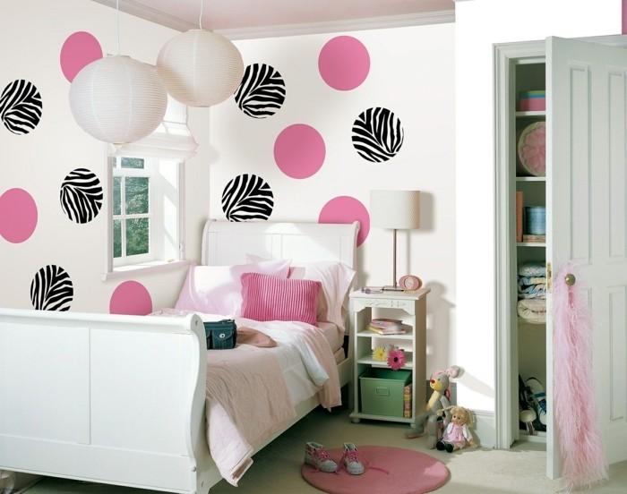 Tapeten Für Jugendzimmer In Rosa Und Schwarzer Farbe