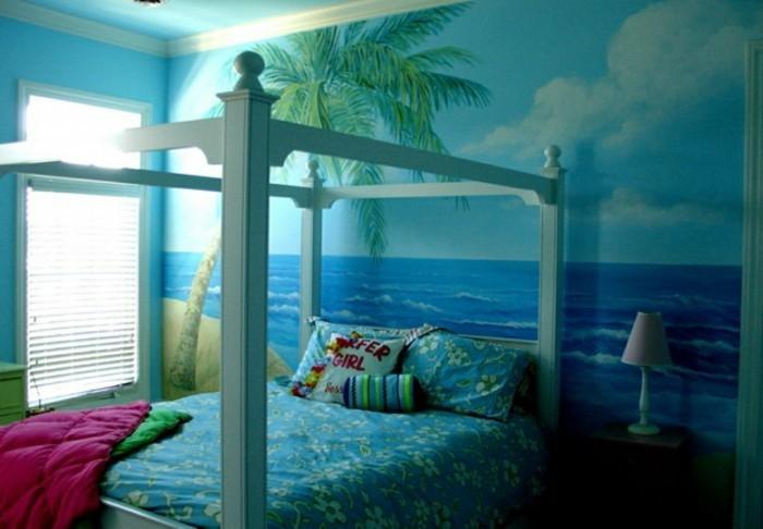 Tapeten-für-Jugendzimmer-wie-auf-einer-Insel