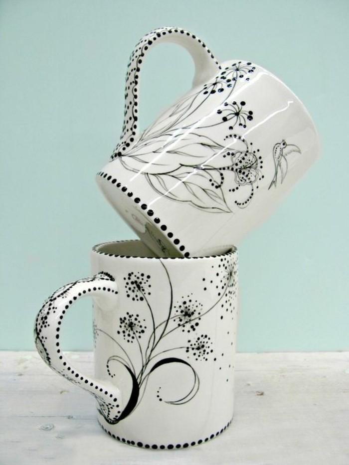 Tassen-bemalen-mit-schönen-Blumen