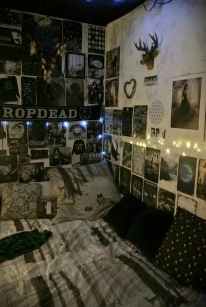 Wandgestaltung-Jugendzimmer-für-ein-Metal-Teenager