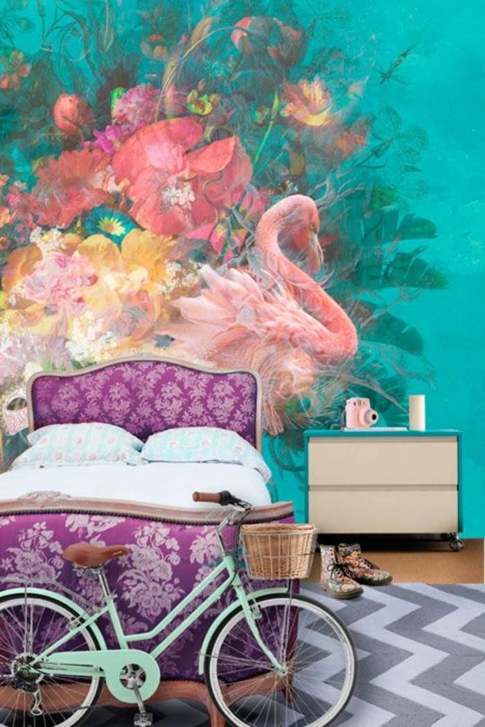 Wandgestaltung-Jugendzimmer-mit-schöner-Malerei