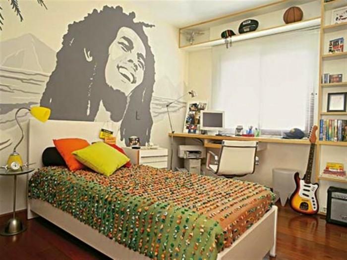 Wandtattoo-Jugendzimmer-mit-berühmtem-Sänger