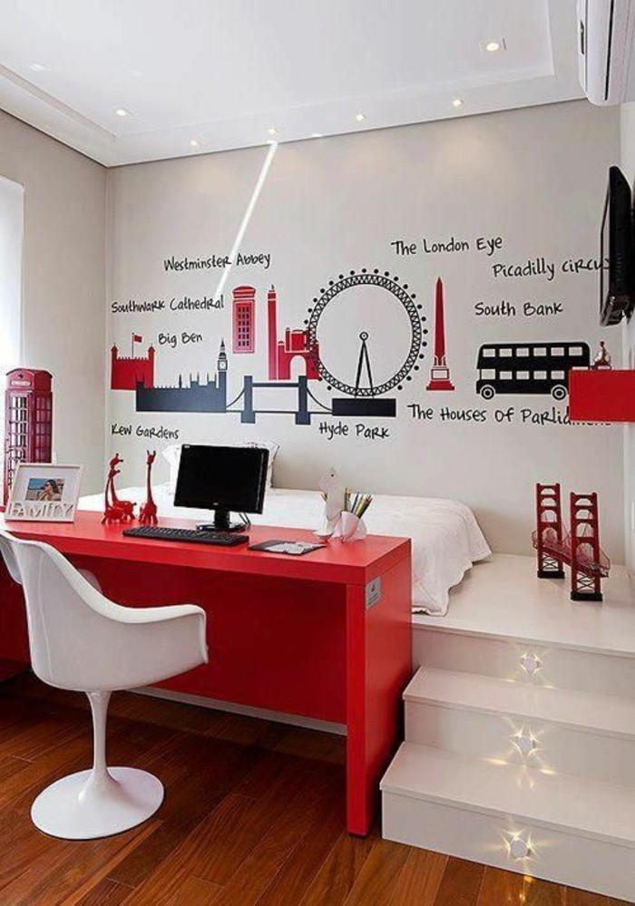 wandgestaltung jugendzimmer cool und sch n einrichten. Black Bedroom Furniture Sets. Home Design Ideas
