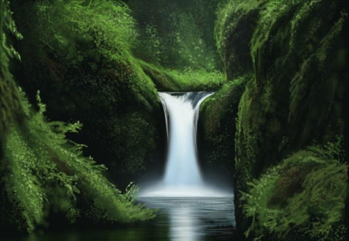 Wasserfall-Bilder-sehr-kleine-Strömung