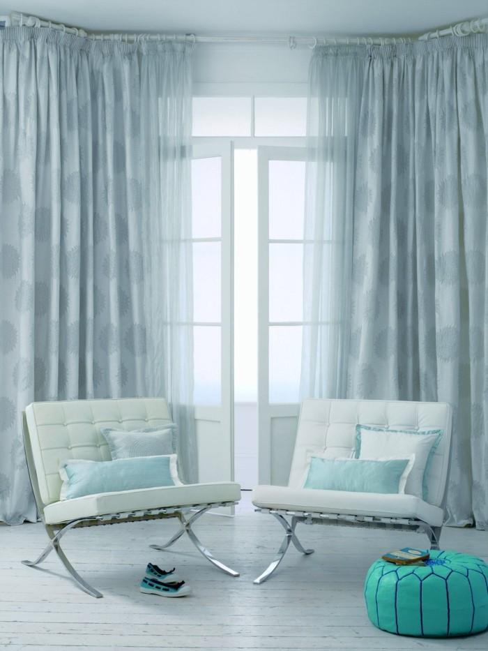 gardine wohnzimmer idee:Gardinen für Wohnzimmer – eine durchsichtige Dekoration