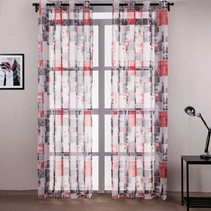 gardine wohnzimmer idee:Gardinen für Wohnzimmer – eine durchsichtige Dekoration ~ gardine wohnzimmer idee