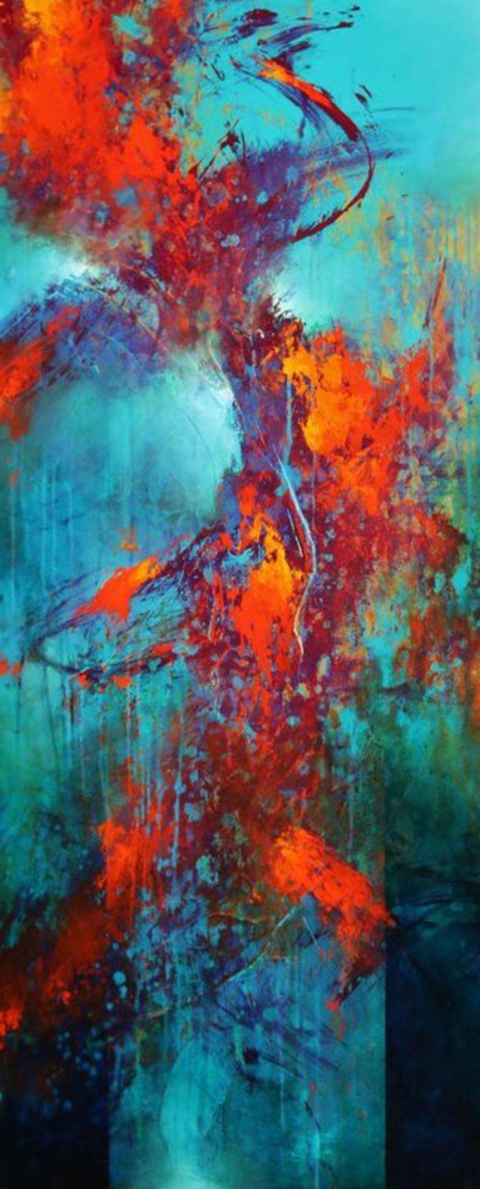 Zeitgenössische-Malerei-ein-abstraktes-Bild