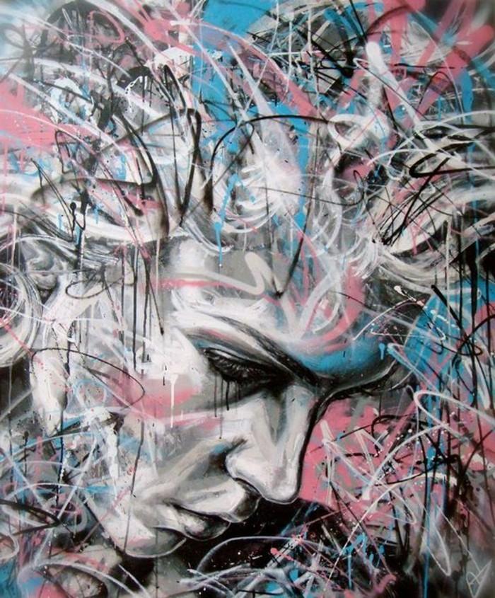 Zeitgenössische-Malerei-von-Linien-in-verschiedenen-Farben