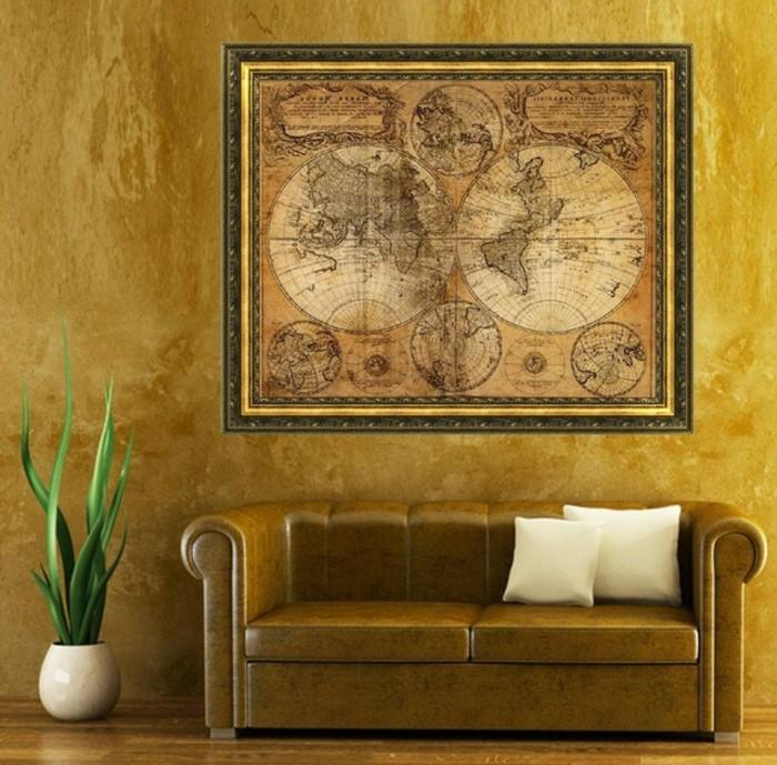 aristokratisches-bild-an-der-schönen-wand-vintage-dekoration-ideen