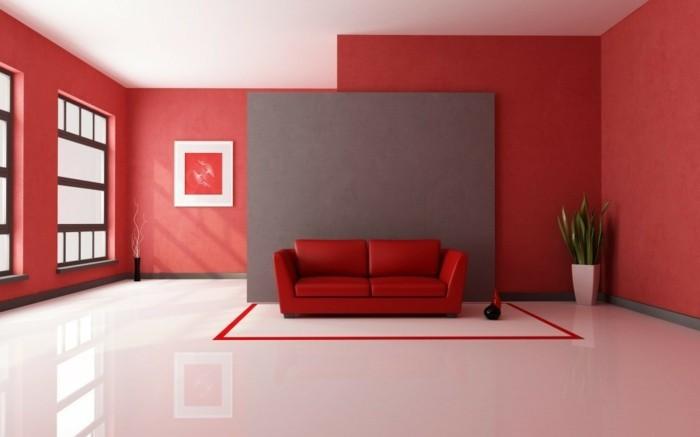 cooles-rotes-interieur-wunderschönes-wohnzimmer-rote-wände