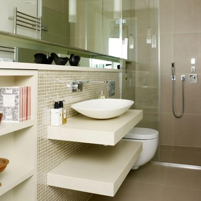 Elegantes Modell Badezimmer Moderne Weiße Waschbecken Kleines Bad  Einrichten?