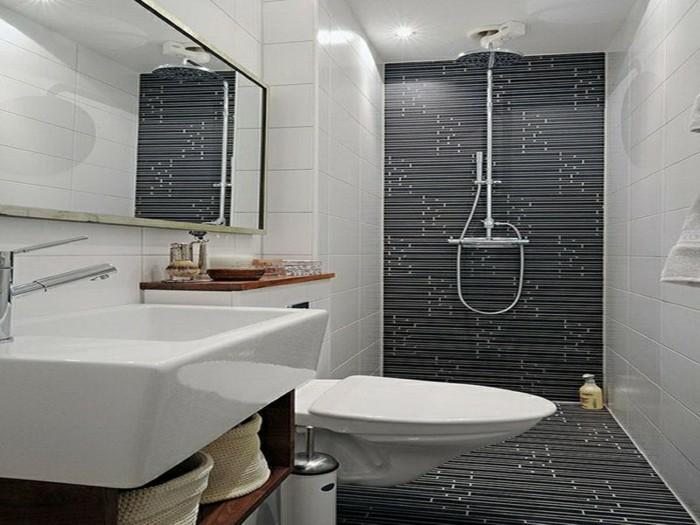 Kleines Bad Einrichten? 50 Vorschläge Dafür! - Archzine.net Badezimmer Einrichtung Kleines Bad