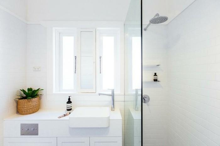 kleines-badezimmer-einrichten-elegante-duschkabine-weißes-interieur