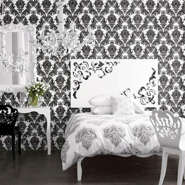 Wandtapeten Schlafzimmer : kreative-wandtapeten-in-einem-aristokratischen-schlafzimmer