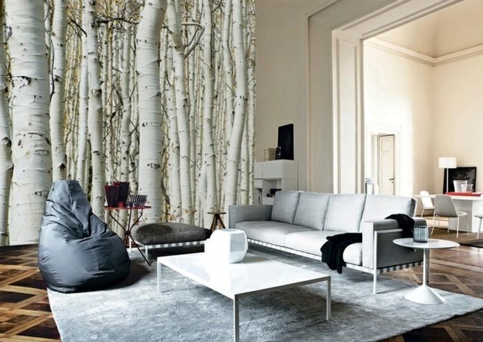 Wandtapeten F?r Wohnzimmer : Entscheiden Sie sich f?r Blumenmuster, wenn Sie ein frisches Ambiente
