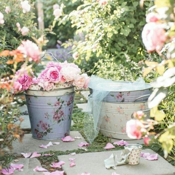 40 Beispiele für Shabby Chic Garten mit Vintage-Flair