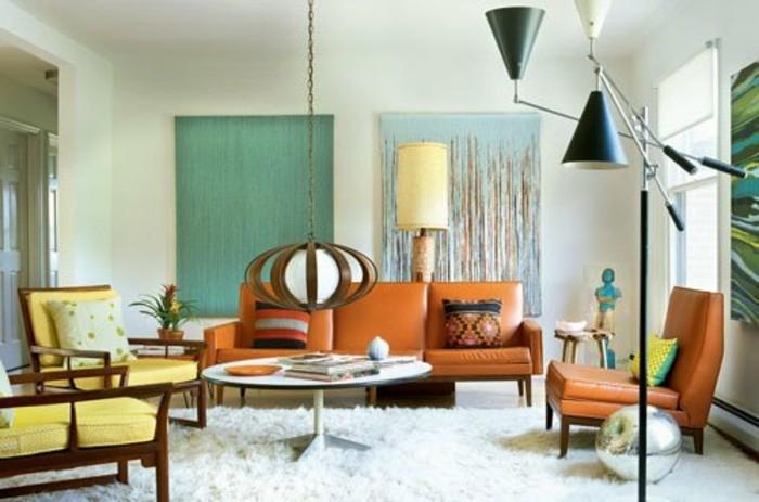 sehr-tolles-design-von-wohnzimmer-retro-dekoration-und-schöne-möbel
