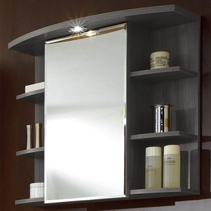 tolles modell badspiegel - schranksystem mit regalen