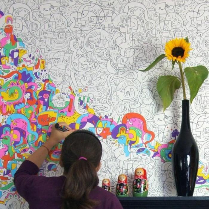 Wandtapeten F?r Babyzimmer : bunte lustige wandtapete f?r positive stimmung zuhause