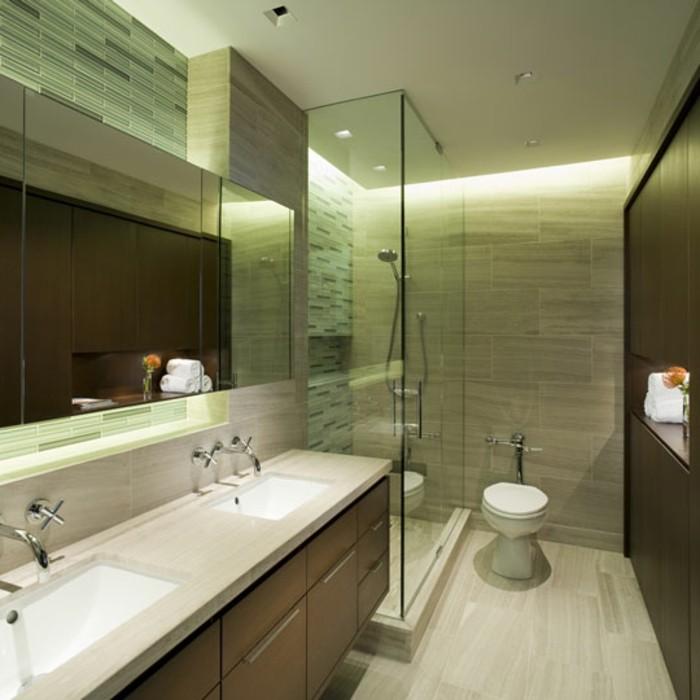 Tolles Badezimmer Klein Und Schicke Gestaltet Indirekte Beleuchtung