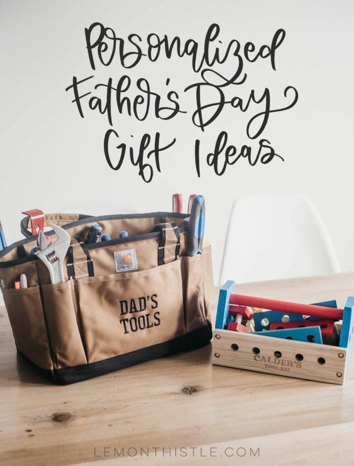 was kann man seinem vater schenken, ledertasche mit intrumenten, personalisierte geschenke