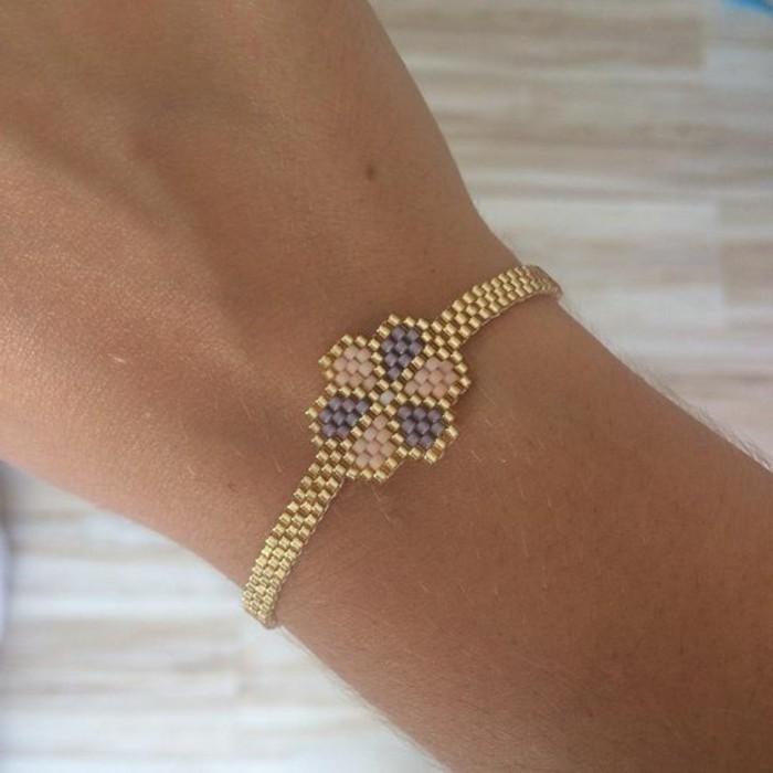Armbänder-mit-Perlen-selber-machen-in-schöner-Form