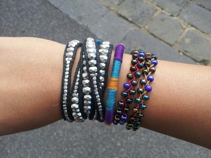 Armbänder-mit-Perlen-selber-machen-verschiedenene-Designs