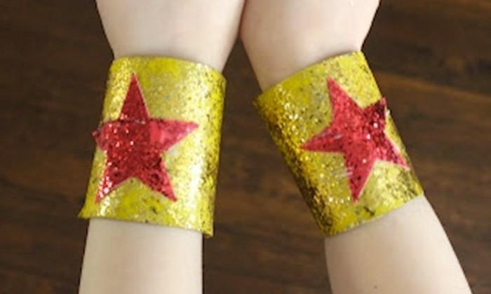 Armbänder-selber-machen-golden-mit-Sternen