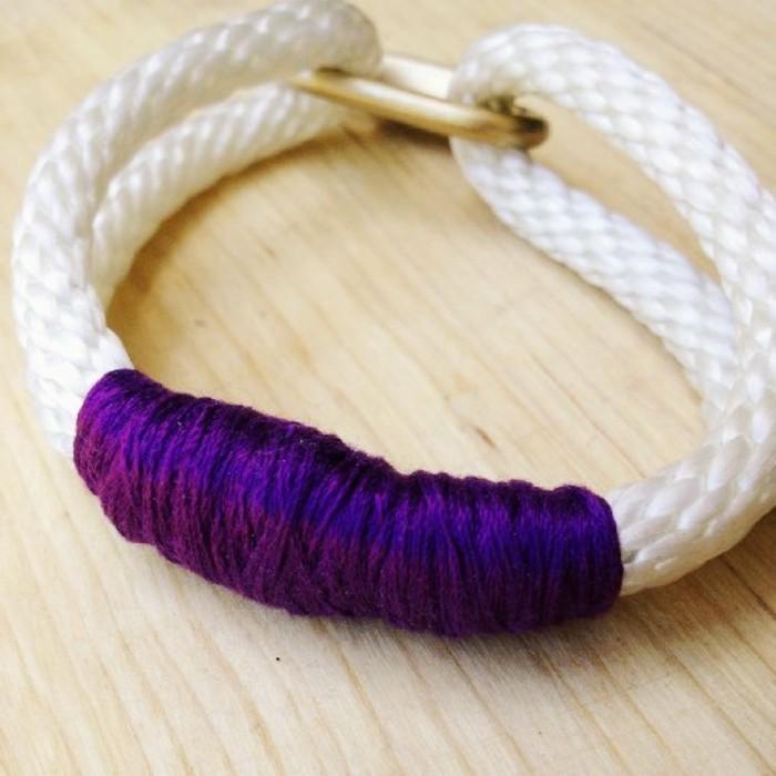 Armbänder-selbst-machen-aus-weißem-Seile