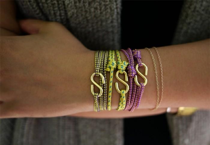 Armbänder-zum-selber-machen-aus-Seilen-und-Klammern