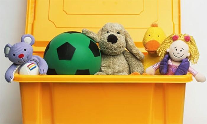 Aufbewahrungsbox-Kinderzimmer-in-gelber-Farbe